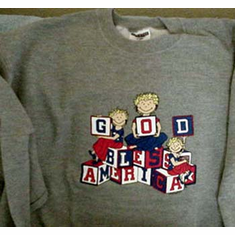 God Bless America--Sweatshirt--Medium