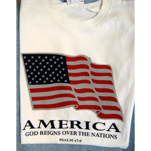 God Reigns America - T-Shirt - Medium