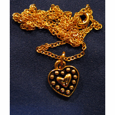Heart In Heart Goldplated Pendent