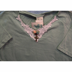 Jewelry Tee- Sage Green-Large