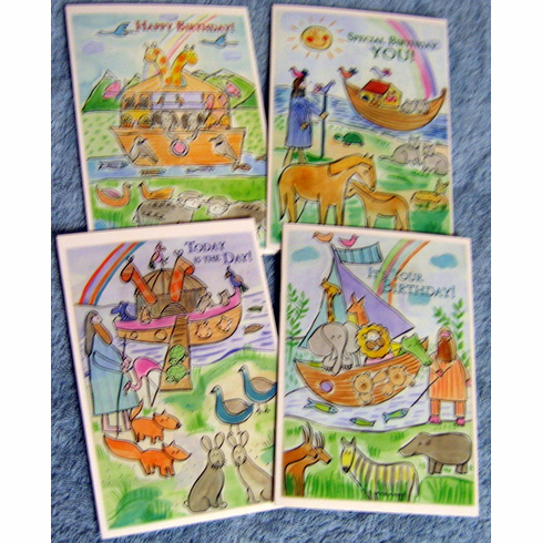 Juvenile Birthday Noahs Ark Greeting Cards At Discount Wholesale