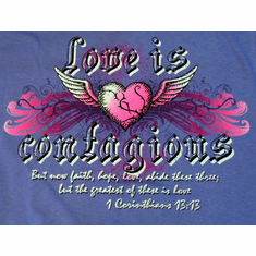 Love is Contagious youth T-shirt