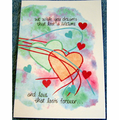 Love that Lasts- 6 Wedding Cards
