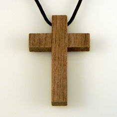 Natural Black Walnut-Cross Pendant-15B, 16C