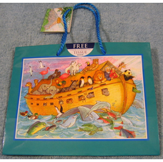 Noah Ark Gift Bag-With Tissue-Pack Of 3