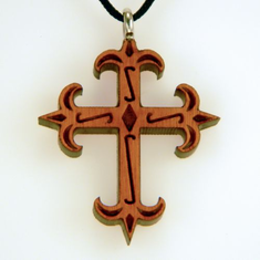 Ornate Wood Cross-42L