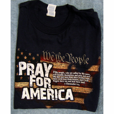 Pray For America- T-Shirt-Small