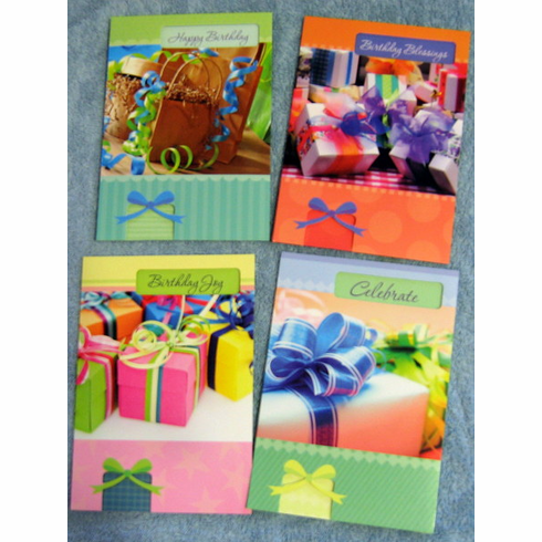 Pretty Packages 12 Birthday Greeting Cards