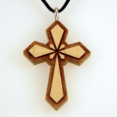 Satin Varnished Maple Wood Cross-51B