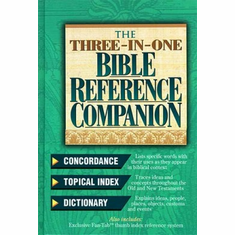 Three-In-One Bible Reference Companion-Value Edition