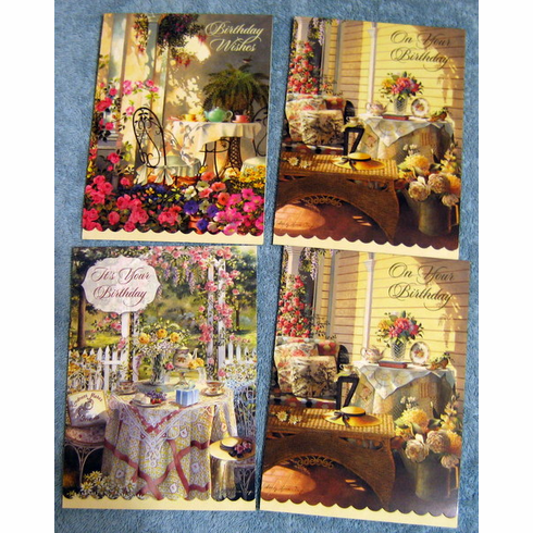 Time For Tea 12 Premium Birthday Cards At Discount Wholesale Cheap