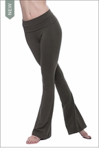 Contour Roll Down Boho Bell Bottom Pant (W-598, Olive) by Hard Tail Forever