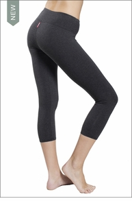 Flat Waist Capri (Dark Charcoal) by Hard Tail Forever