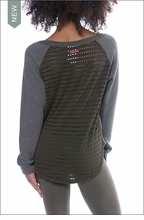 Fleece Cozy Sweater (Style SHE-15, Olive) by Hard Tail Forever by Hardtail