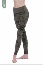 Hard Tail Forever Roll Down Cargo Ankle Legging (W-443, Olive Camo)