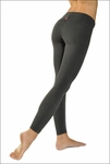 Hardtail Contour Roll Down Ankle Legging (Dark Charcoal)