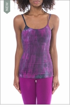 Long Spaghetti Tank with Bra (Style 586, Tie-Dye BAM1) by Hard Tail Forever by Hardtail