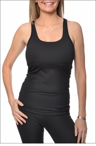 Rainbow Keyhole Tank (Black) by Hardtail