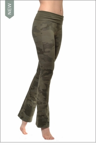 Roll Down Boot Leg Pants (330, Camo) by Hard Tail Forever
