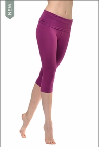 Roll Down Knee Legging (Tie-Dye Orchid OL4) by Hard Tail Forever