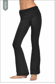 Scrunch Waist Flare Pant (W-377, Black) by Hard Tail Forever