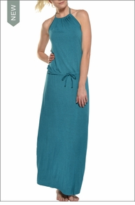 Sexy Back Halter Maxi (Tide) by Hard Tail Forever