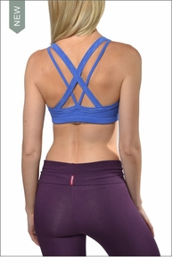 Strappy Double Cross Thick & Thin Bra (Iris) by Hardtail