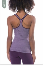 Sueded Lycra V Scoop Swimer's Tank (Style SUED-16, Sueded Concord) by Hard Tail Forever
