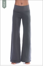 Supima Cotton Baby Fleece Flat Waist Pants (Style SMF-34, Granite) by Hard Tail Forever