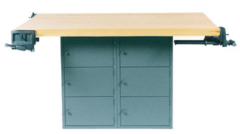 4-Station Workbench w/vises  (Quick Ship)-41 Wt-220/120/205