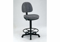 Alvin� Black Leather Premo Drafting Height Ergonomic Chair