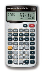 Calculated Industries® Construction Master® Pro Trig Calculator
