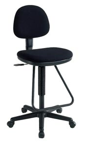 Alvin® Viceroy Artist/Drafting Black Chair