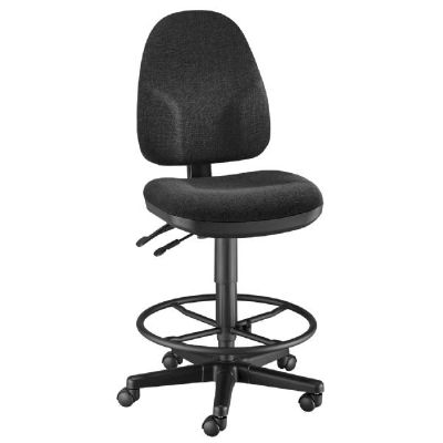 Alvin® Black High Back Drafting Height Monarch Chair