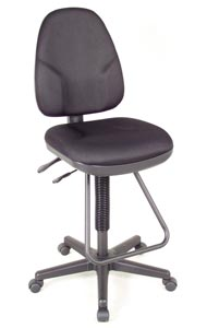 Alvin® Black Executive Drafting Height Monarch Chair