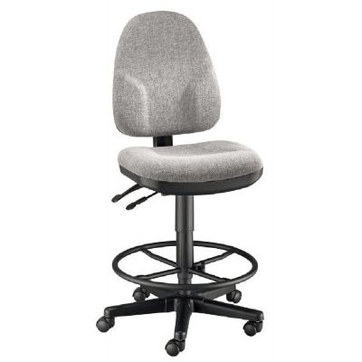 Alvin® Medium Gray High Back Drafting Height Monarch Chair