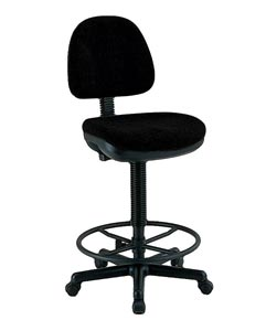 Alvin® Black Premo Drafting Height Ergonomic Chair