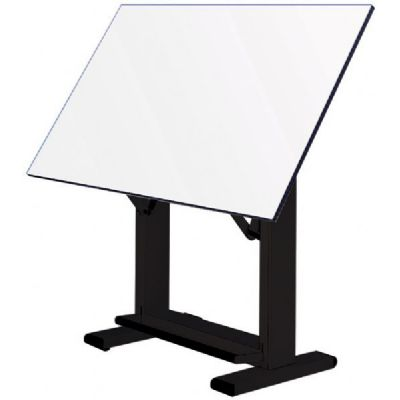 Alvin® Elite Table, Black Base White Top 37.5