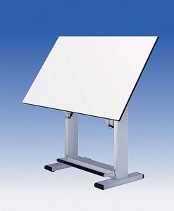 "Alvin® Elite Table, White Base White Top 37.5"" x72"""