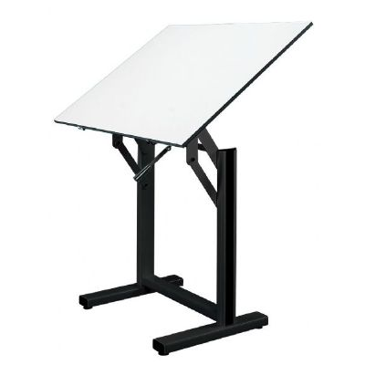 Alvin® Ensign Table, Black Base White Top 36