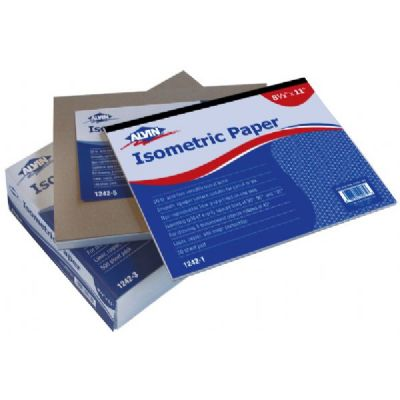 "Alvin® Isometric Paper 500-Sheet Pack 8.5"" x 11"""