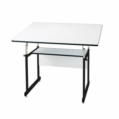 "Alvin® WorkMaster® Jr. Table, Black Base White Top 31"" x 42"""