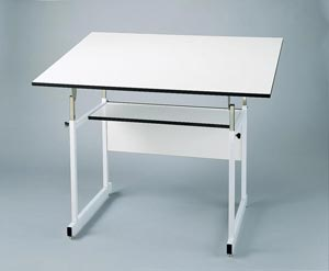 "Alvin® WorkMaster® Jr. Table, White Base, White Top 31"" x 42"""