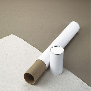 "Alvin® White Fiberboard Tubes 43"" (box of 24 pcs)"