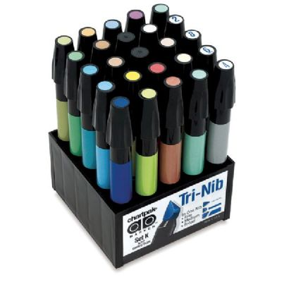 Chartpak® AD™ Marker 25-Color Art Director Set - Click to enlarge