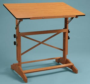 """Alvin® Pavillon Art and Drawing Table Cherry Melamine Top 24"""" x 36"""""""