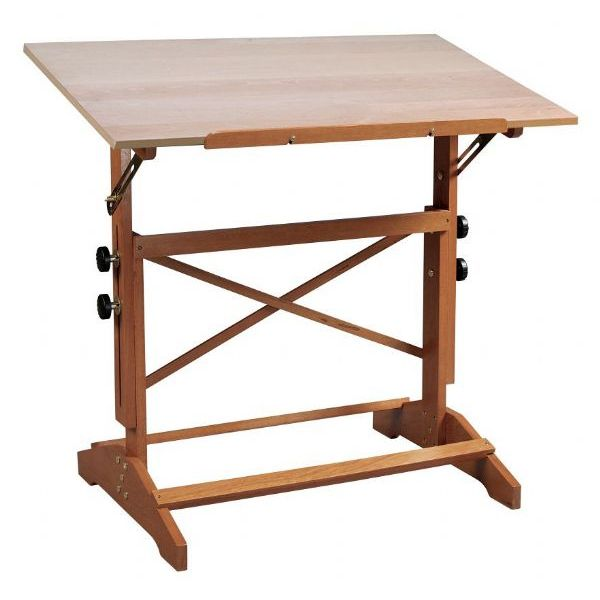 Alvin Pavillon Art And Drawing Table Unfinished Wood Top X - Drafting table standing desk