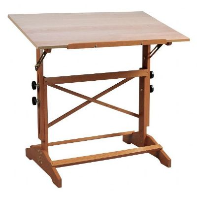 "Alvin® Pavillon Art and Drawing Table Unfinished Wood Top 31"" x 42"""