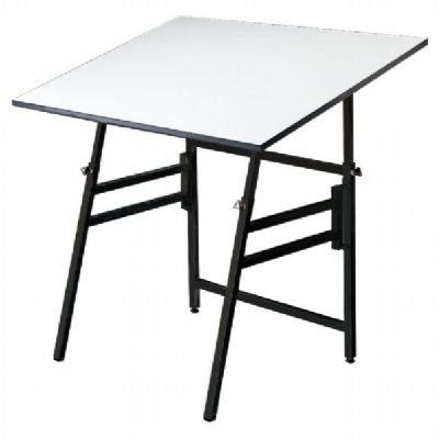 Alvin® Professional Table, Black Base White Top 36