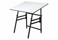 "Alvin� Professional Table, Black Base White Top 24"" x 36"""